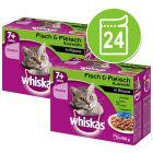 Whiskas 7+ Senior Selectie in Saus Maaltijdzakjes Kattenvoer Voordeelpakket 24 x 85 g / 100 g