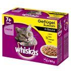 Whiskas 7+ Senior Selectie in Saus Maaltijdzakjes Kattenvoer 12 x 85 g / 100 g
