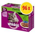 Whiskas 7+ Senior Selectie n Saus / Gelei Maaltijdzakjes Kattenvoer Voordeelpakket 96 x 85 g / 100 g