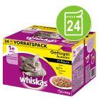 Whiskas 1+ Sélection aux viandes ou à la volaille 24 x 100 g pour chat