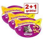 Whiskas Snacks para gatos em promoção: 2 + 1 grátis!