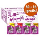 Whiskas 96 x 100 g bolsitas en oferta: 86 + 10 ¡gratis!