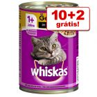 Whiskas 1+ 12 x 400 g latas em promoção: 10 + 2 grátis!