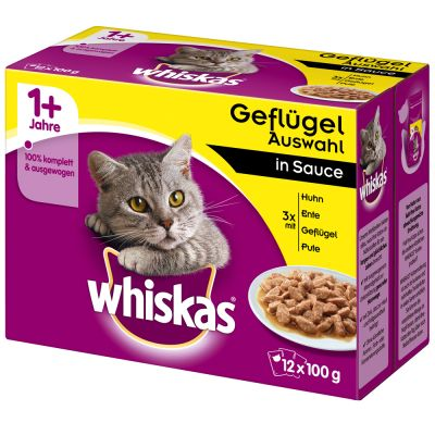 Whiskas 1+ 96 x 100 g pour chat