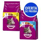Whiskas 2 x 3,8 kg pienso para gatos en pack mixto de prueba