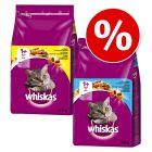 Whiskas-tuplapakkaus 2 x 3,8 kg, 2 eri makua