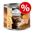 Wild Freedom Kitten 6 x 200 g erikoishintaan!