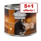 Wild Freedom Adult pour chat 5 x 200 g + 1 boîte offerte !