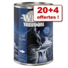 Wild Freedom Adult pour chat 20 x 400 g + 4 boîtes offertes !