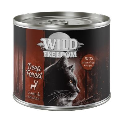 Wild Freedom Adult 12 x 200 g pour chat + filets de poulet offerts !
