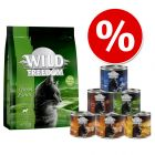 Wild Freedom kokeilupakkaus: 400 g kuivaruokaa + 6 x 200 g märkäruokaa
