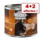 Wild Freedom pour chat 4 x 200 / 400 g + 2 boîtes offertes !
