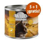 Wild Freedom 6 x 200 / 400 g latas en oferta: 5 + 1 ¡gratis!