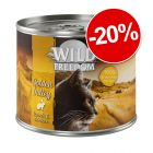 Wild Freedom 24 x 200 / 400 g pour chat : 20 % de remise !