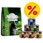 Wild Freedom zkušební balení: 400 g suché krmivo + 6 x 200 g mokré krmivo