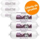 Wolf of Wilderness en salchichas 6 x 400 g - Pack de prueba