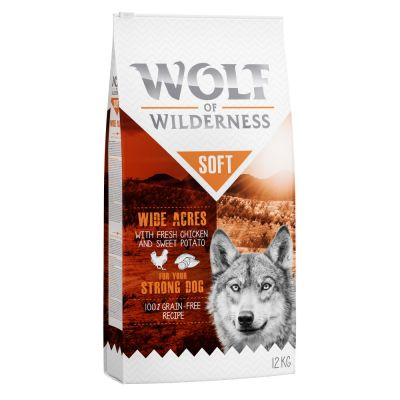 Wolf of Wilderness Soft Wide Acres, poulet pour chien