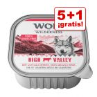 Wolf of Wilderness tarrinas 6 x 300 g en oferta: 5 + 1 ¡gratis!