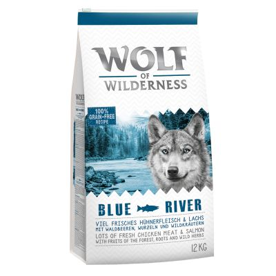 Wolf of Wilderness Adult Blue River, saumon pour chien