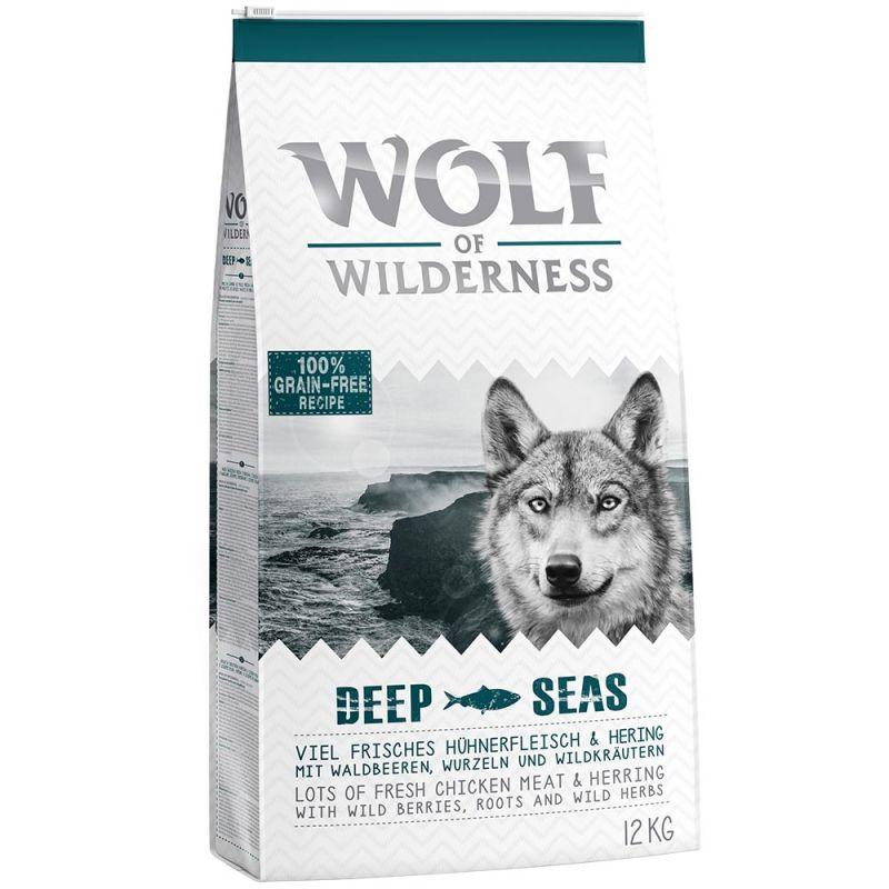 Wolf of Wilderness Adult Deep Seas, hareng pour chien