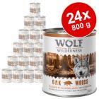 Wolf of Wilderness Adult gazdaságos csomag 24 x 800 g
