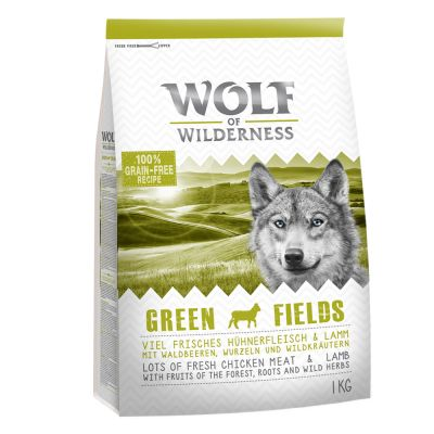 Wolf of Wilderness Adult Green Fields, agneau pour chien