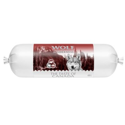 Wolf of Wilderness Adult Salsicha 24 x 400 g  - Pack económico