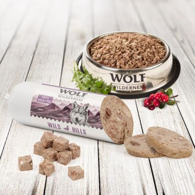 Wolf of Wilderness Adult Saucisse 6 x 400 g pour chien