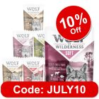 """Wolf of Wilderness Adult """"Soft"""" Pouches Mixed Pack"""