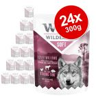"Wolf of Wilderness Adult ""Soft"" Pouches Saver Pack 24 x 300g"