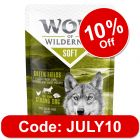 """Wolf of Wilderness Adult """"Soft"""" Pouches 6 x 300g"""