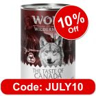 """Wolf of Wilderness Adult """"The Taste of"""" 6 x 400g"""