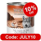 """Wolf of Wilderness Adult """"The Taste of"""" 6 x 800g"""