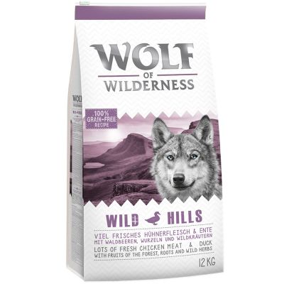 Wolf of Wilderness Adult Wild Hills, canard pour chien