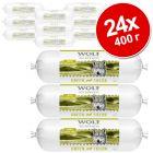 Икономична опаковка Wolf of Wilderness Adult колбас 24 x 400 г