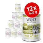 Πακέτο προσφοράς: Wolf of Wilderness Adult 12 x 400 g