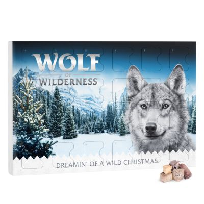 Wolf of Wilderness Calendario dell'Avvento per cani (senza cereali)