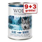 Wolf of Wilderness comida húmida 12 x 400 g em promoção: 9 + 3 grátis!