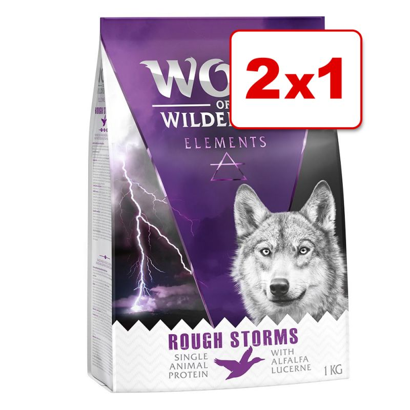 Wolf of Wilderness Elements 2 kg en oferta: 1 + 1 ¡gratis!