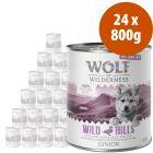 Wolf of Wilderness Free Range Junior 24 x 800 g - Pack Ahorro
