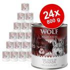 Wolf of Wilderness - gazdaságos csomag 24 x 800 g