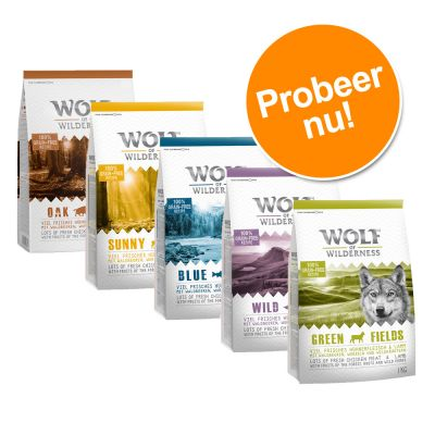 Wolf of Wilderness - Gemengd Probeerpakket 5 x 1 kg