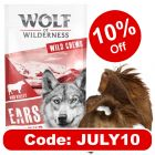 """Wolf of Wilderness """"High Valley"""" – Dried Cows' Ears with Fur"""