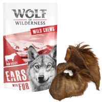"Wolf of Wilderness ""High Valley"" – Dried Cows' Ears with Fur"