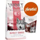 Wolf of Wilderness 12 kg pienso + 180 g snacks Wild Bites ¡gratis!