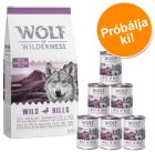 Wolf of Wilderness: 12 kg szárazeledel + 6 x 400 g nedveseledel