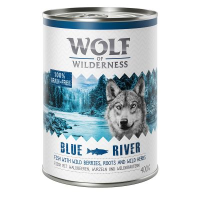 Wolf of Wilderness 12 kg Trockenfutter + 6 x 400 g Nassfutter