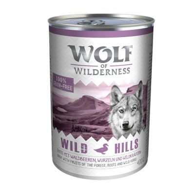 Wolf of Wilderness 1 kg + 6 x 400 g - Pack misto
