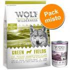 Wolf of Wilderness 1 kg + 6 x 400 g - Pack misto