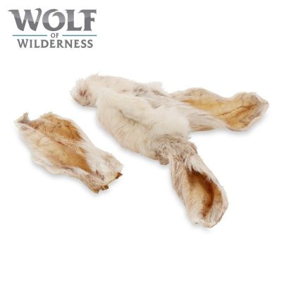 "Wolf of Wilderness ""Meadow Grounds"" – Dried Rabbit Ears with Fur"